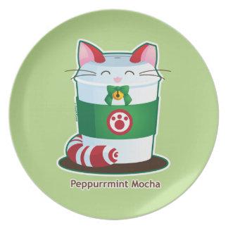 Purrista Pawfee - Cute Holiday Coffee Cat Melamine Plate