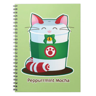 Purrista Pawfee - Cute Holiday Coffee Cat Spiral Notebook