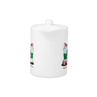 Purrista Pawfee - Cute Holiday Coffee Cat Teapot