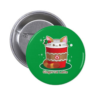 Purrista Pawfee: Cute Holiday Ginger Cat Coffee Button