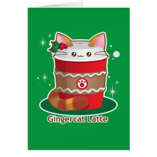 Purrista Pawfee: Cute Holiday Ginger Cat Coffee Card