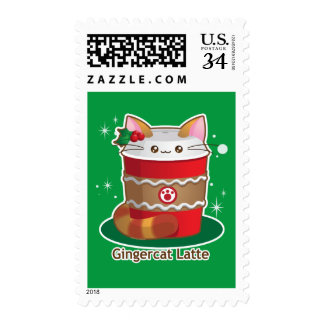 Purrista Pawfee: Cute Holiday Ginger Cat Coffee Postage
