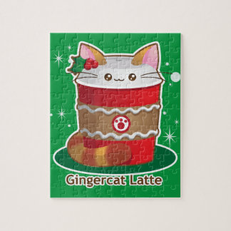Purrista Pawfee: Cute Holiday Ginger Cat Coffee Puzzle