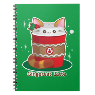 Purrista Pawfee: Cute Holiday Ginger Cat Coffee Spiral Note Book