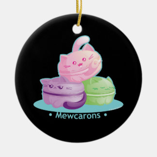 Purrista Pawfee: Cute Kitty Cat Macarons Ceramic Ornament