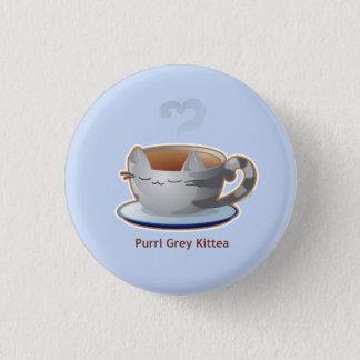 Purrista Pawfee: Grey Kitty Tea Mug Button