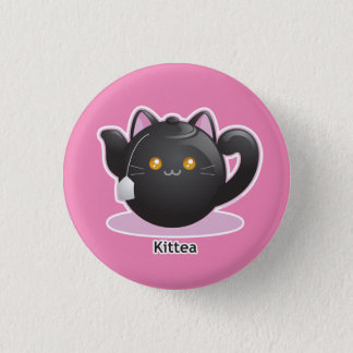 Purrista Pawfee: Kitty Tea Pot Pinback Button