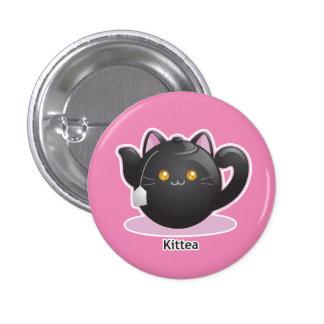 Purrista Pawfee: Kitty Tea Pot Pinback Button