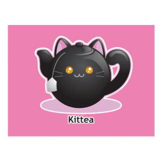 Purrista Pawfee: Pote del té del gatito Postal