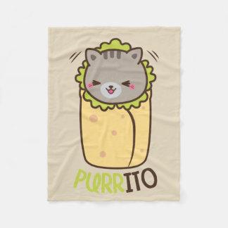 Purrito Burrito Cat Fleece Blanket
