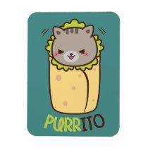Purrito Kitty Cat Burrito Magnet