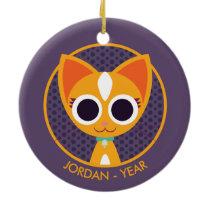 Purrl the Cat Ceramic Ornament