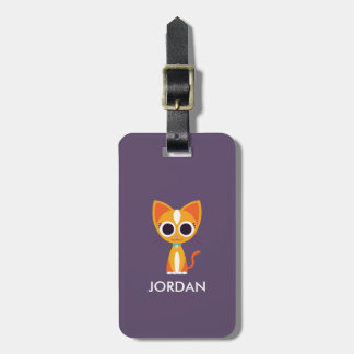 Purrl the Cat Luggage Tag