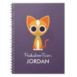 Purrl the Cat Spiral Note Books