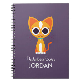 Purrl the Cat Spiral Notebook