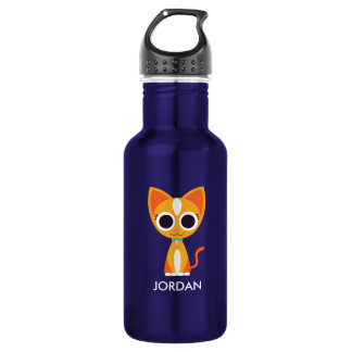 Purrl the Cat Stainless Steel Water Bottle