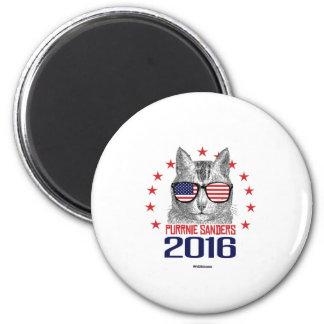 Purrnie Sanders 2016 2 Inch Round Magnet