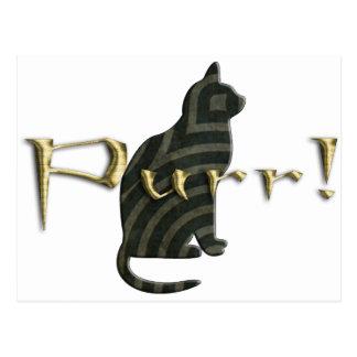 Purrr! Cat Postcard