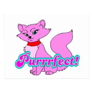 Purrrfect Cat Postcard