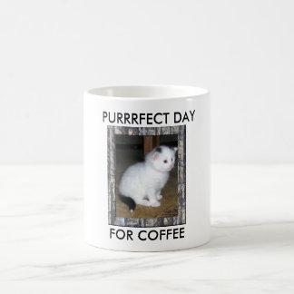 PURRRFECT DAY, FOR COFFEE COFFEE MUG