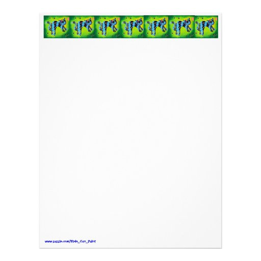 Purrrfect Time To Write! - Cheerful Green Kitty Letterhead Template