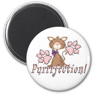 Purrrfection Kitty 2 Inch Round Magnet