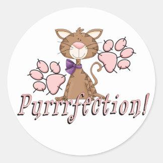 Purrrfection Kitty Classic Round Sticker