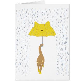 Purrrfectly Dry Greeting Cards