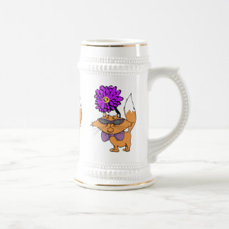 Purrrple Cat Dude Beer Stein
