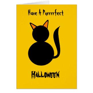 Purrrrfect Halloween Card