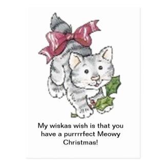 Purrrrfect Meowy Christmas Postcard