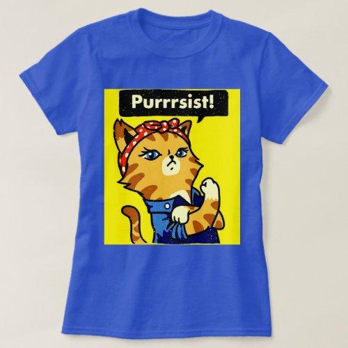 Purrrsist Shirt Cat Purrsist cat pursist T_Shirt