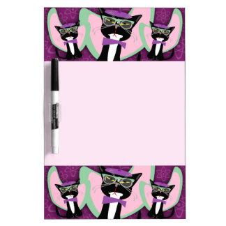 Purrsville Daddy-O Beatnik Kitty Dry-Erase Board