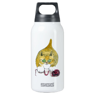 Purrtrica and the Yarn Dance Insulated Water Bottle