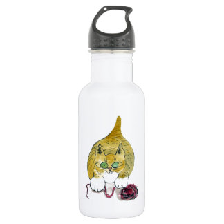 Purrtrica and the Yarn Dance Stainless Steel Water Bottle