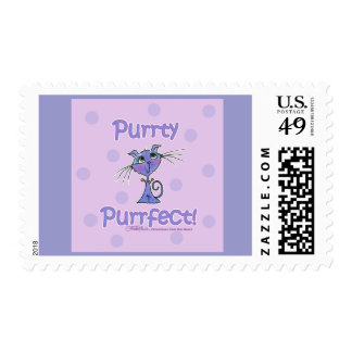 Purrty Purrfect Kitty Postage