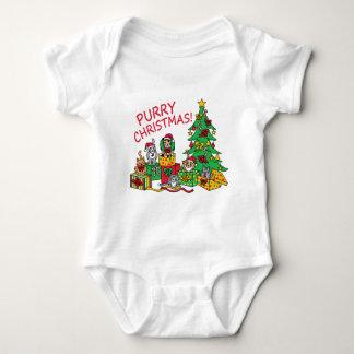 Purry Christmas! Baby Bodysuit
