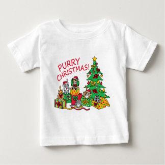 Purry Christmas! Baby T-Shirt