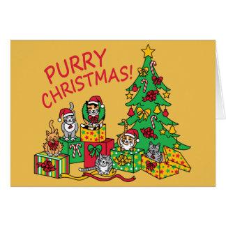 Purry Christmas! Card