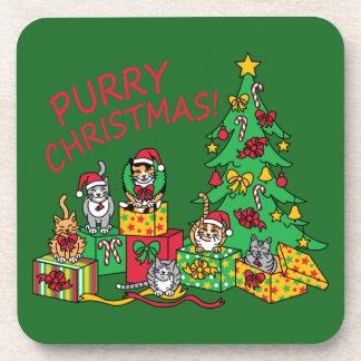 Purry Christmas! Coaster