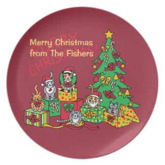 Purry Christmas! Dinner Plate