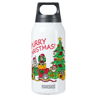 Purry Christmas! Insulated Water Bottle