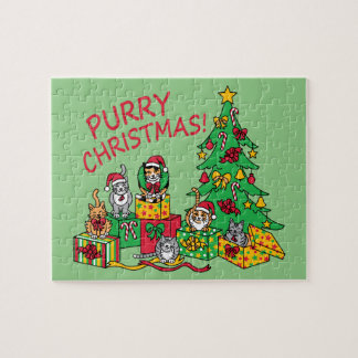 Purry Christmas! Jigsaw Puzzle