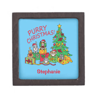 Purry Christmas! Keepsake Box