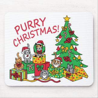 Purry Christmas! Mouse Pad