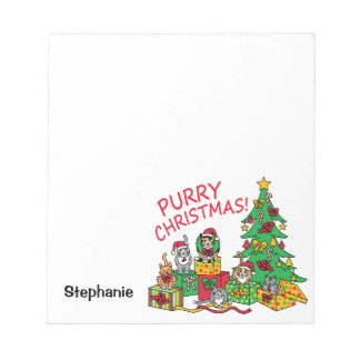 Purry Christmas! Notepad
