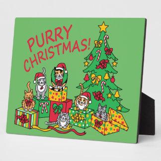 Purry Christmas! Plaque