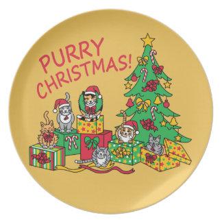 Purry Christmas! Plate