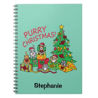Purry Christmas! Spiral Notebook
