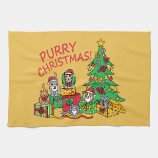 Purry Christmas! Towels